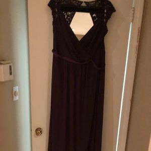 David's Bridal size 18 bridesmaid Plum dress